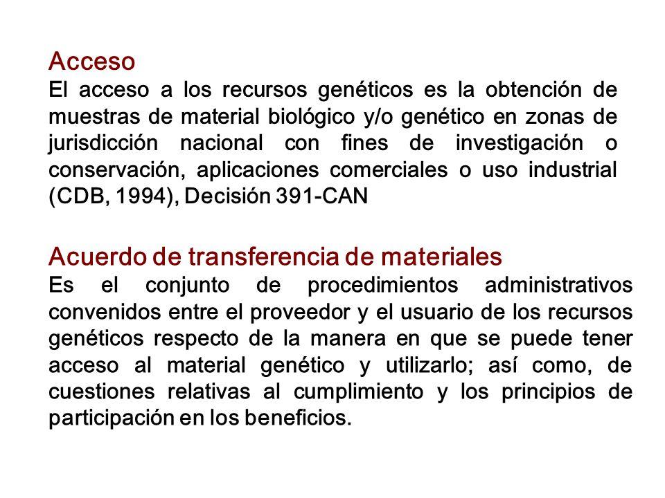 Acuerdo de transferencia de materiales