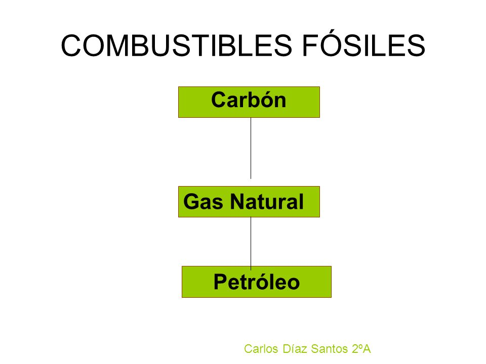 COMBUSTIBLES FÓSILES Carbón Gas Natural Petróleo