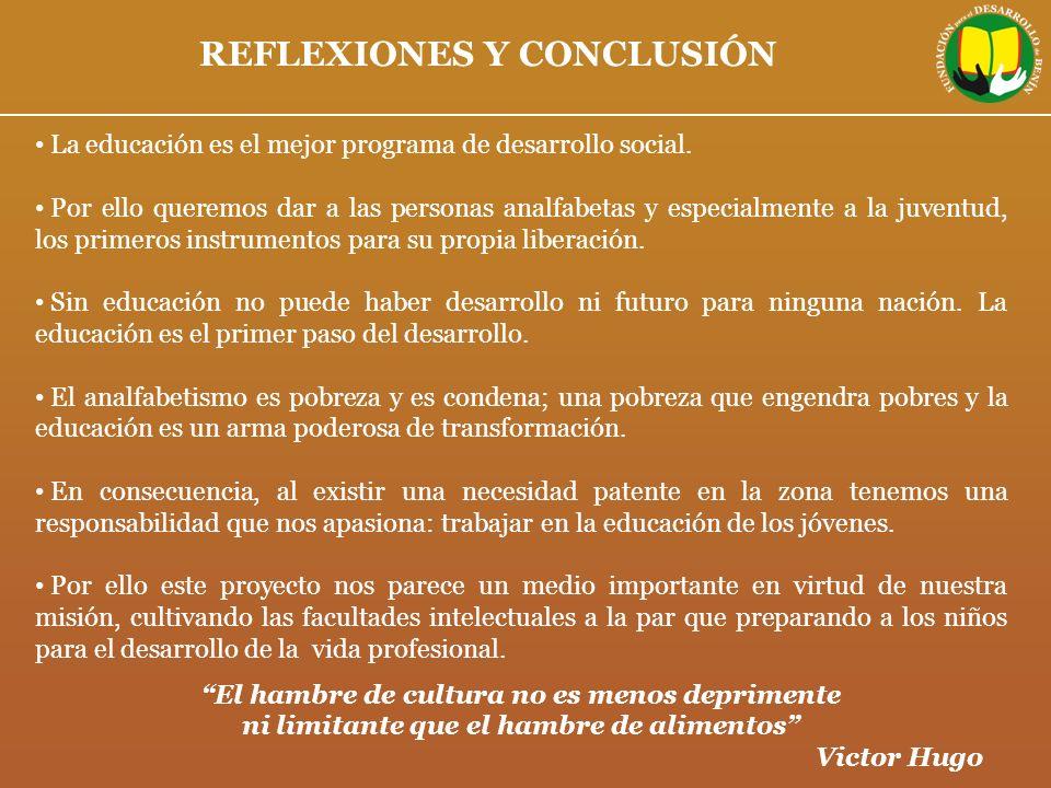 REFLEXIONES Y CONCLUSIÓN