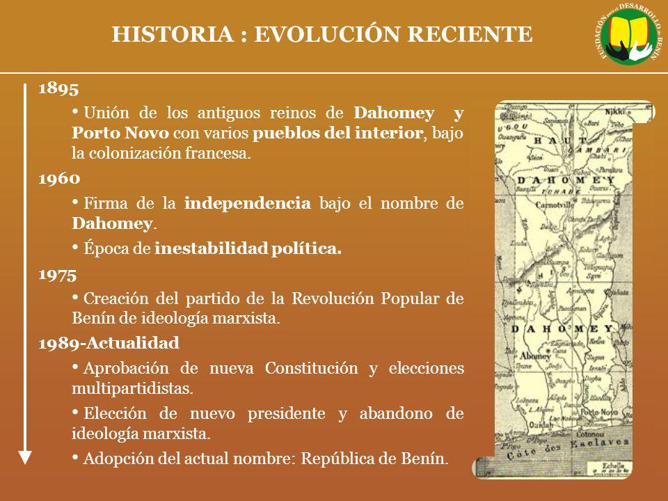 HISTORIA : EVOLUCIÓN RECIENTE