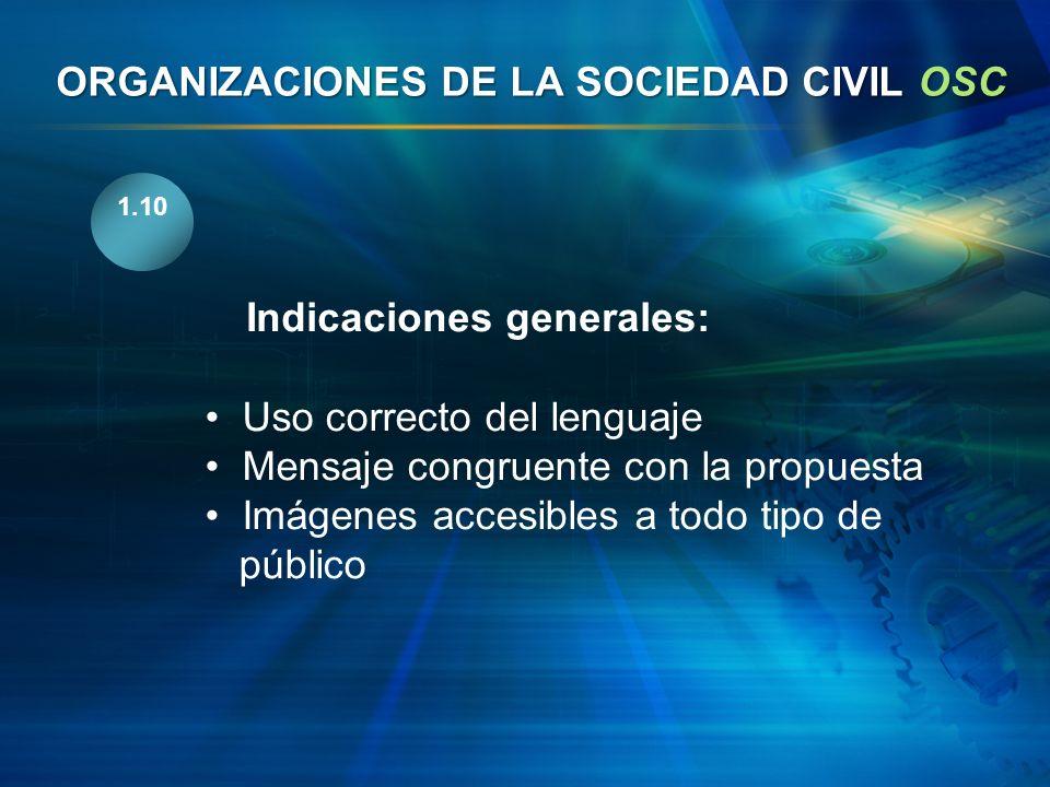 ORGANIZACIONES DE LA SOCIEDAD CIVIL OSC