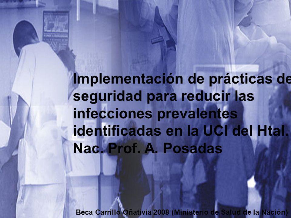 Implementación de prácticas de seguridad para reducir las infecciones prevalentes identificadas en la UCI del Htal. Nac. Prof. A. Posadas