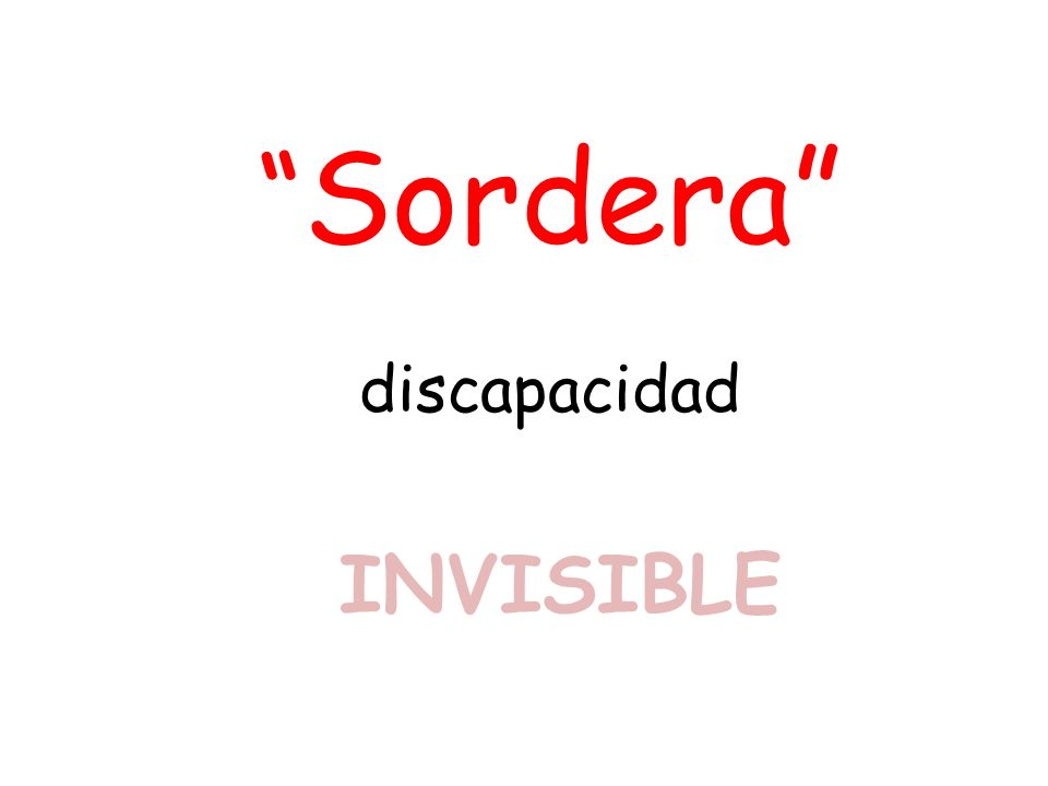 Sordera discapacidad