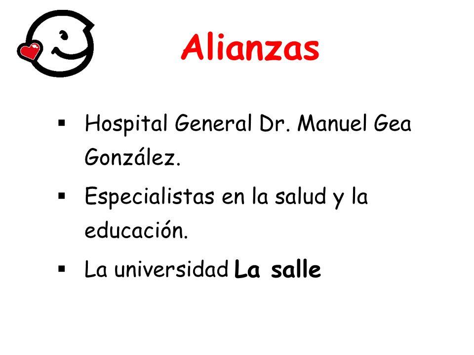 Alianzas La salle Hospital General Dr. Manuel Gea González.