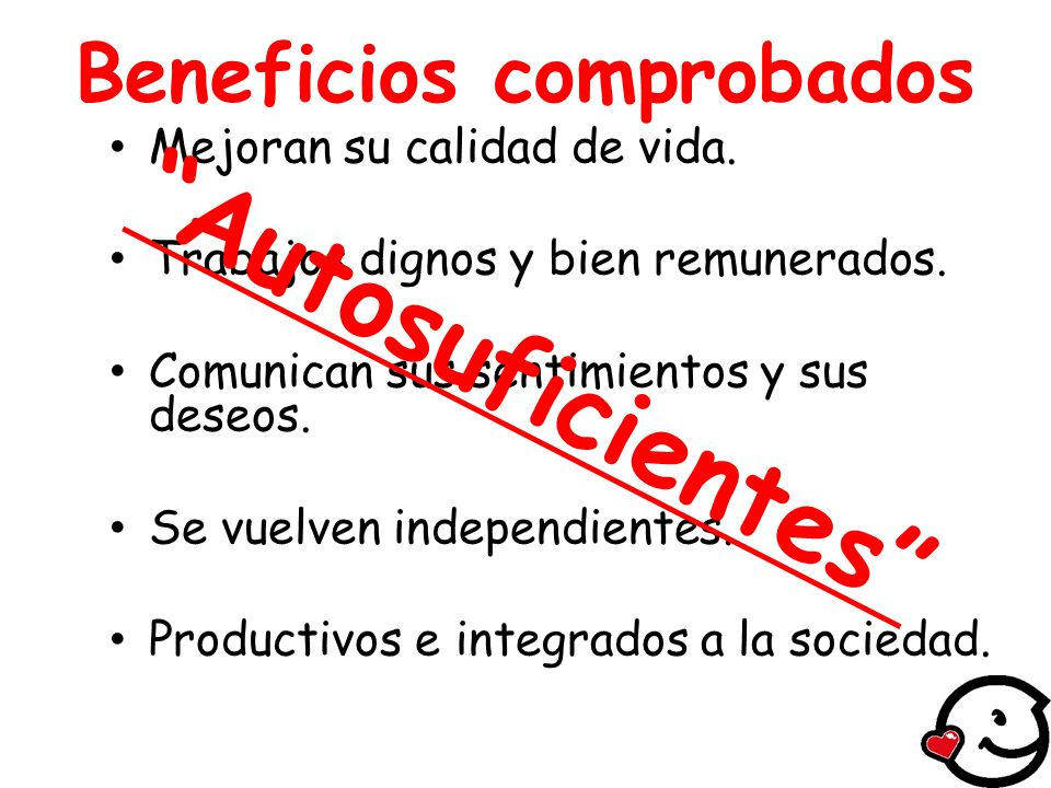Beneficios comprobados