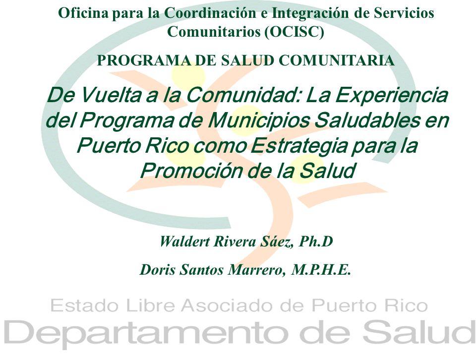 Oficina para la Coordinación e Integración de Servicios Comunitarios (OCISC)