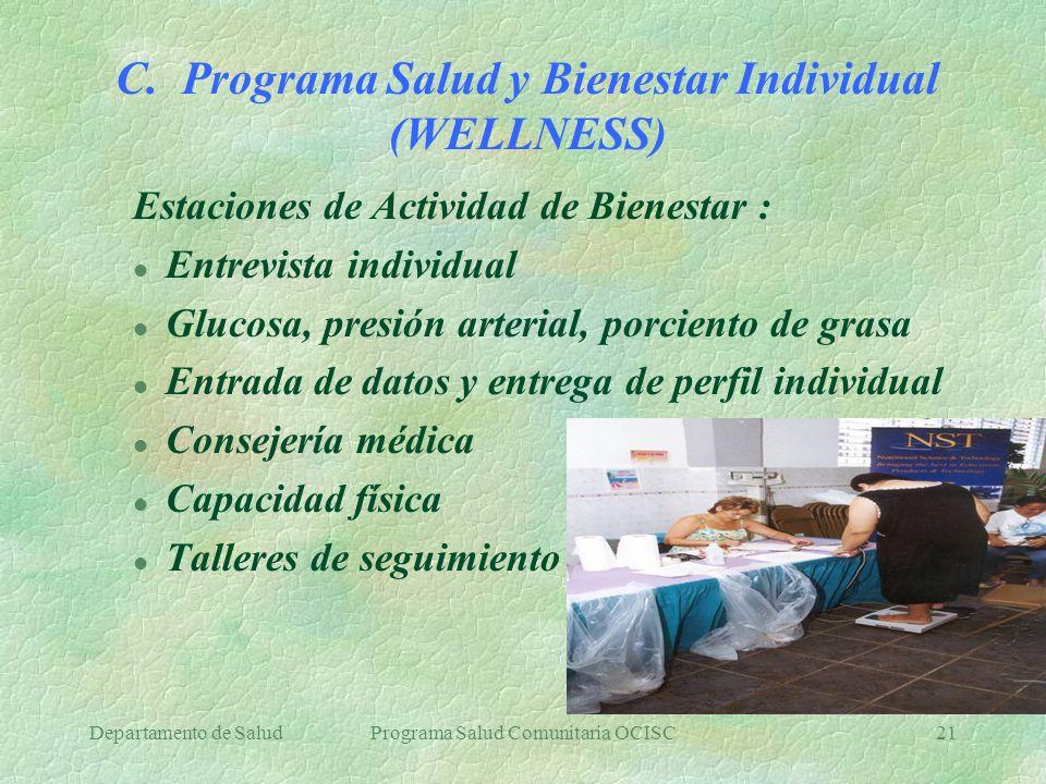 C. Programa Salud y Bienestar Individual (WELLNESS)