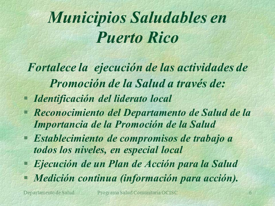Municipios Saludables en Puerto Rico