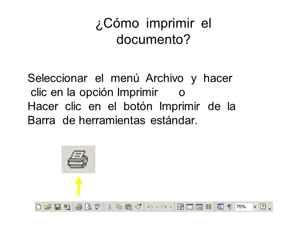 ¿Cómo imprimir el documento