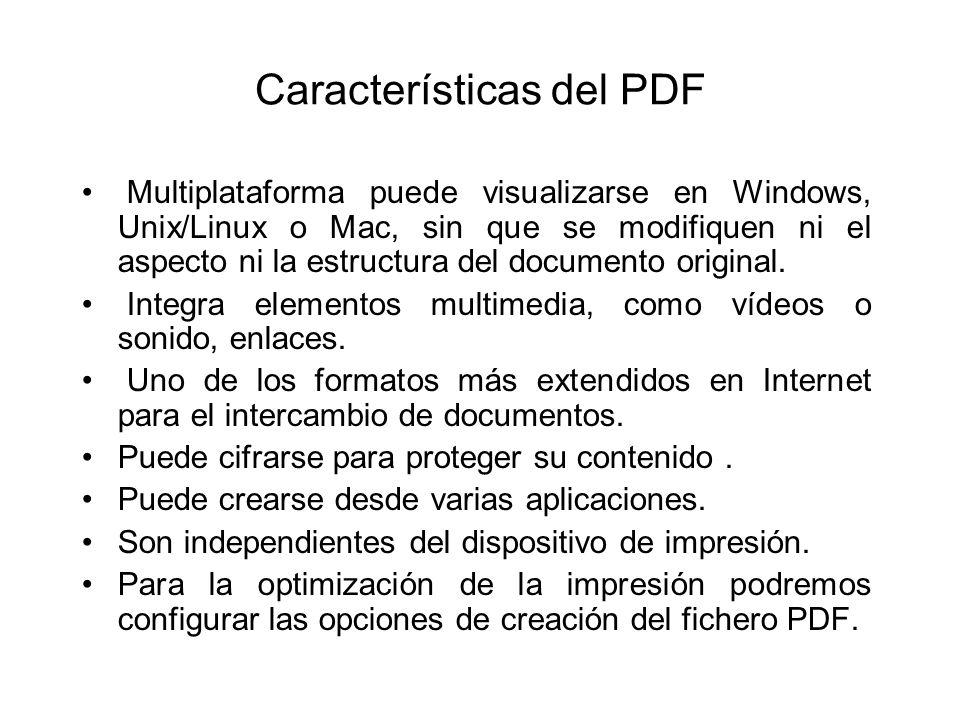 Características del PDF