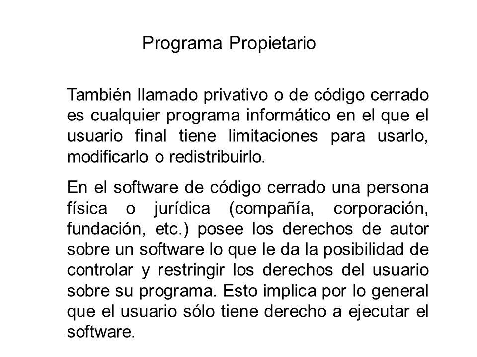 Programa Propietario