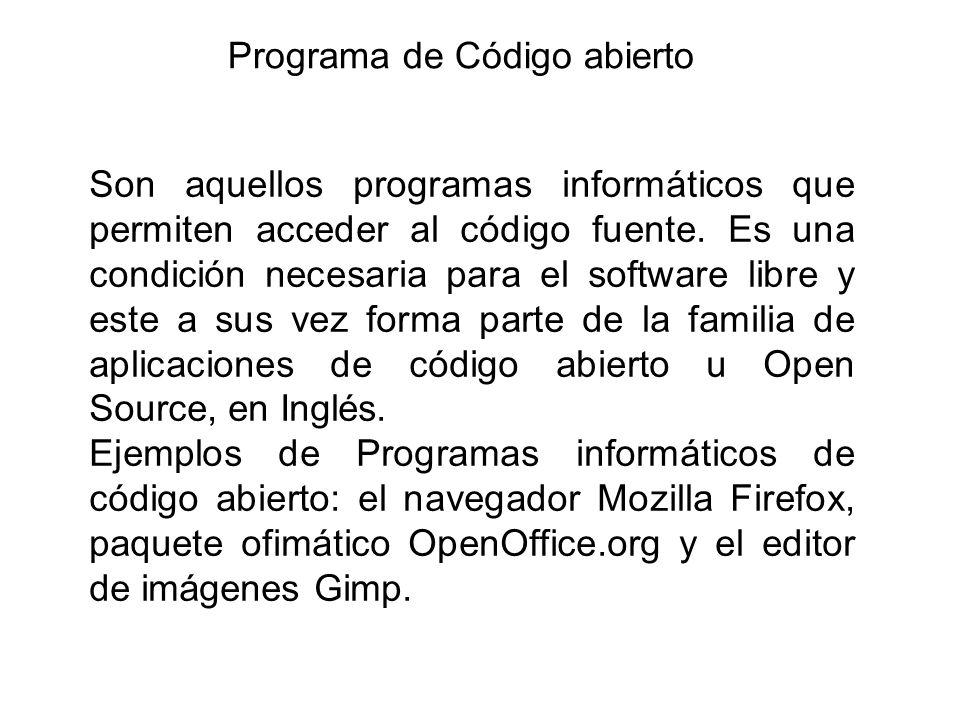 Programa de Código abierto