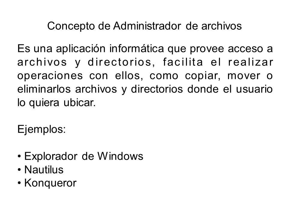 Concepto de Administrador de archivos