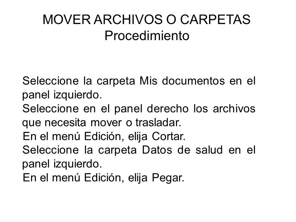 MOVER ARCHIVOS O CARPETAS