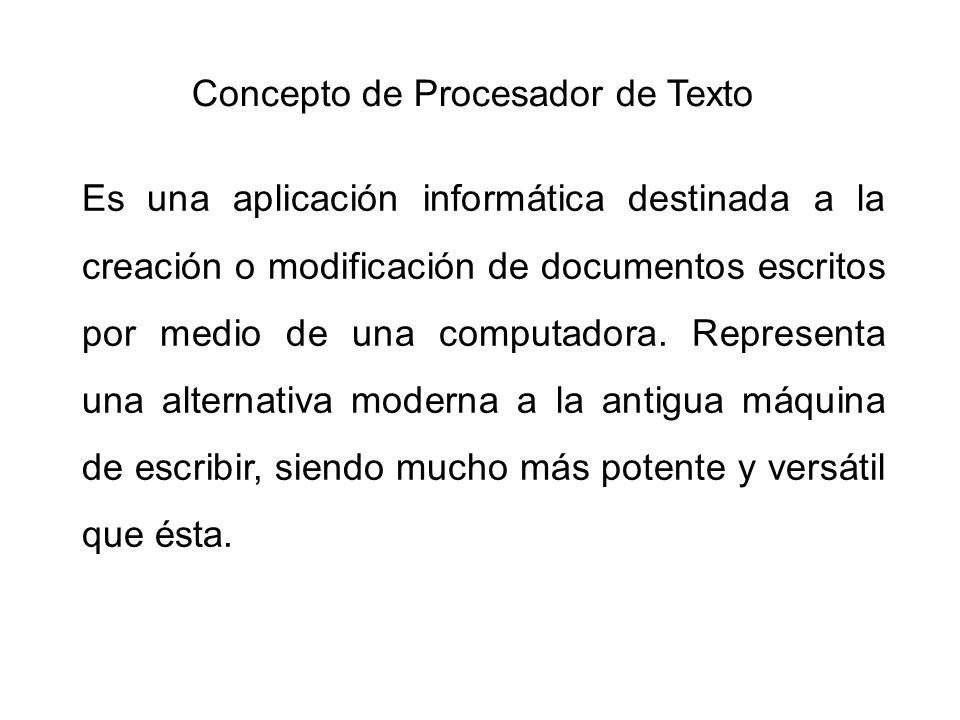 Concepto de Procesador de Texto
