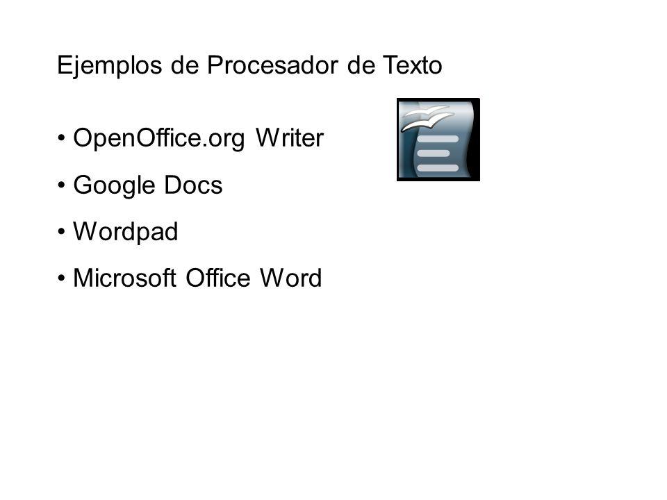 Ejemplos de Procesador de Texto