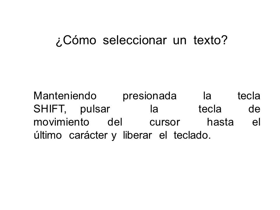 ¿Cómo seleccionar un texto