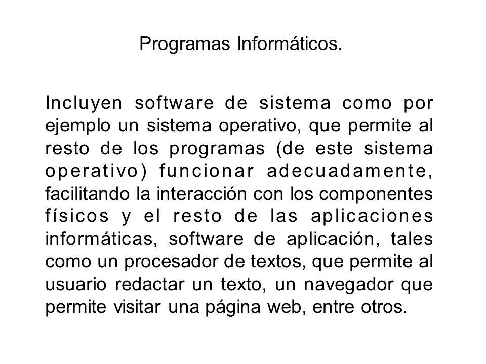 Programas Informáticos.
