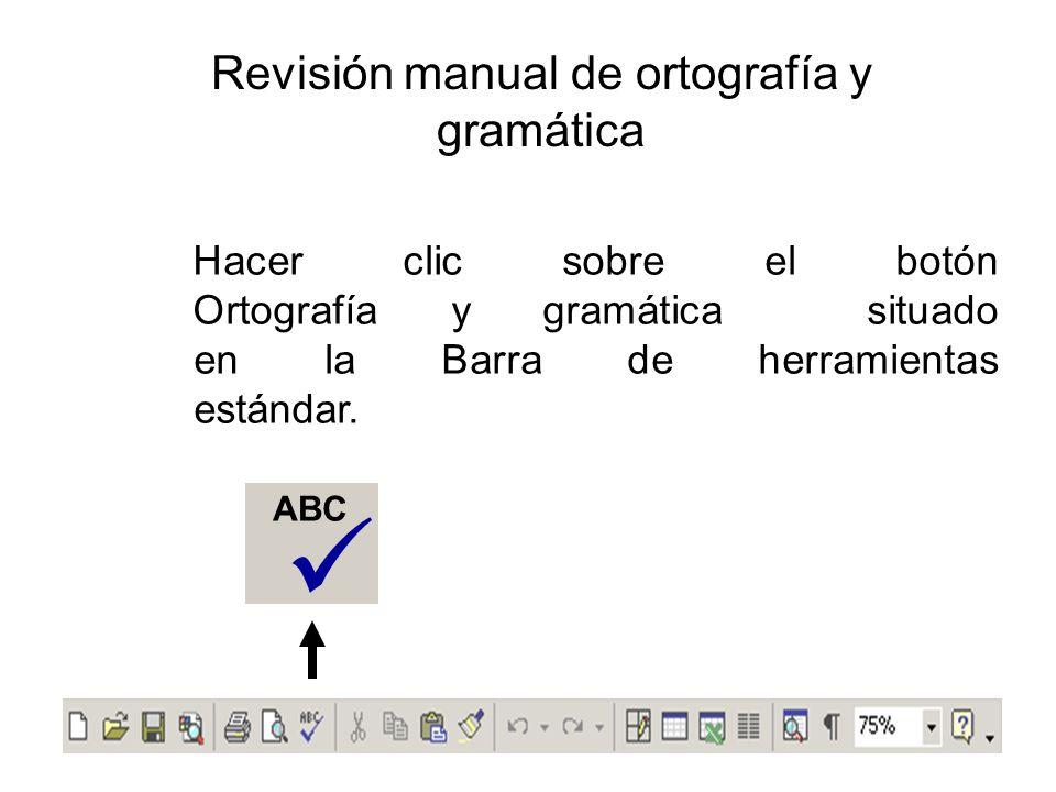 Revisión manual de ortografía y gramática