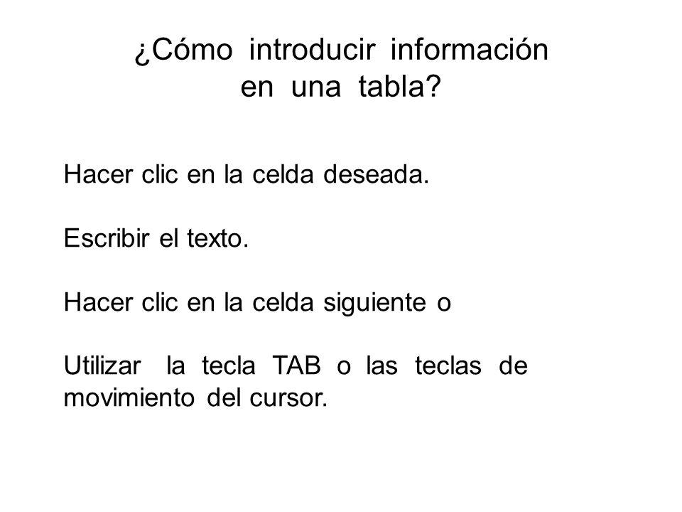 ¿Cómo introducir información