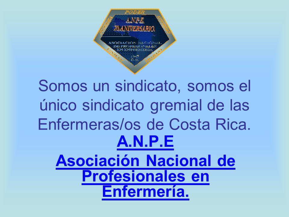 A.N.P.E Asociación Nacional de Profesionales en Enfermería.