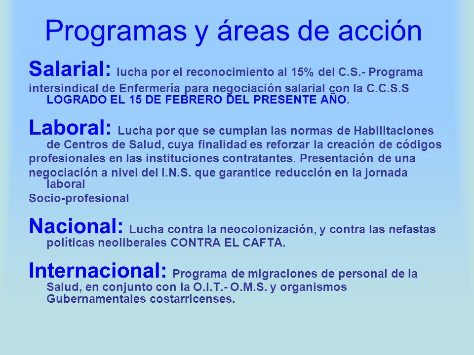 Programas y áreas de acción