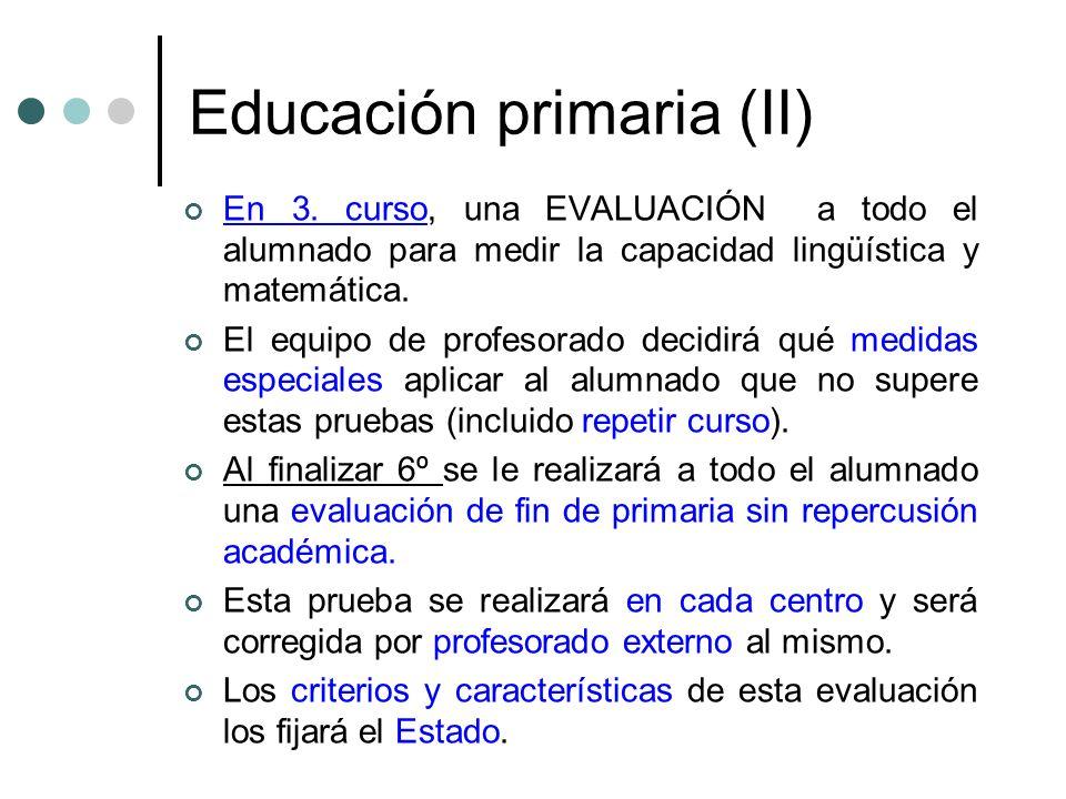 Educación primaria (II)