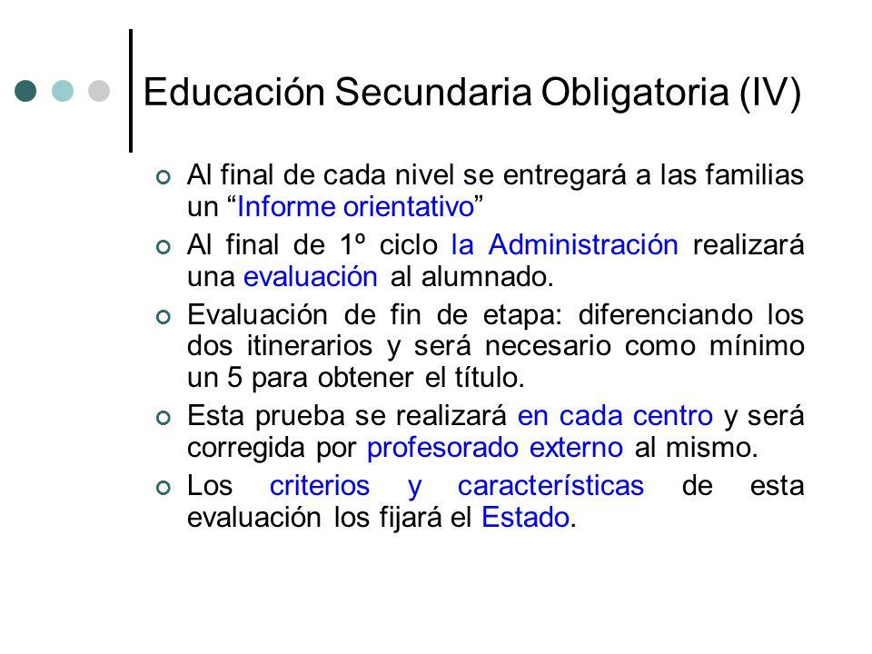 Educación Secundaria Obligatoria (IV)