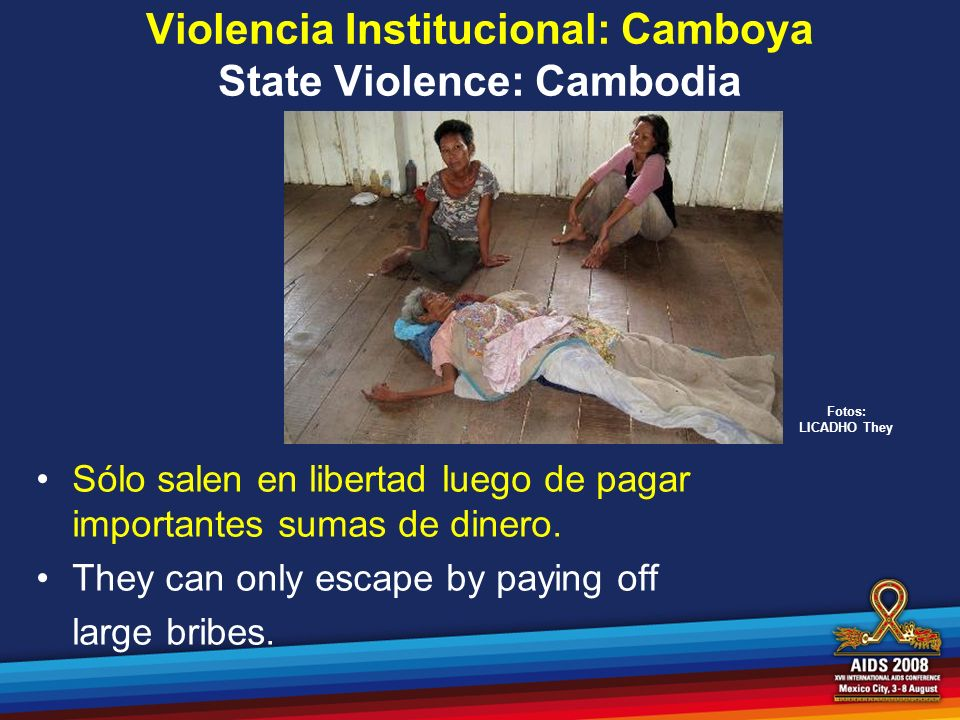 Violencia Institucional: Camboya State Violence: Cambodia