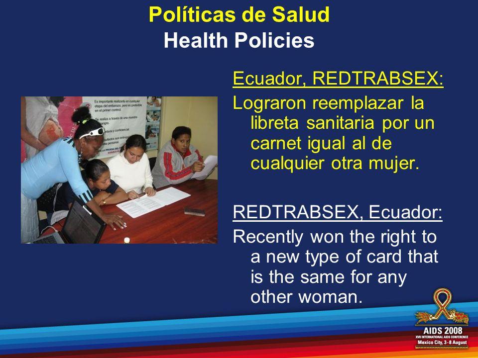Políticas de Salud Health Policies