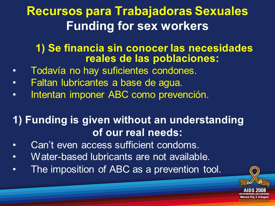 Recursos para Trabajadoras Sexuales Funding for sex workers