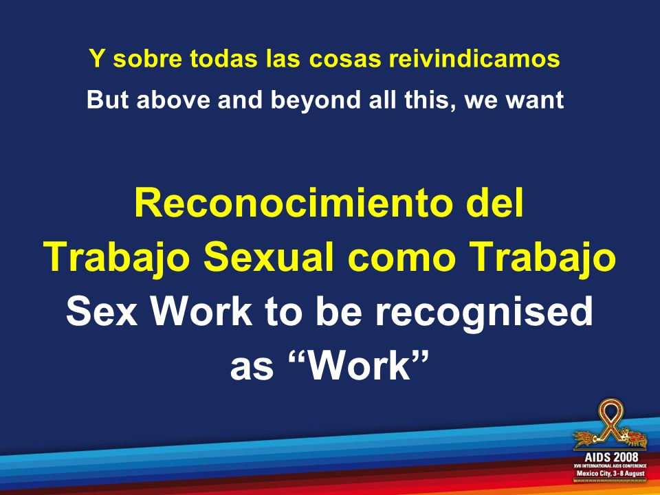 Sex Work to be recognised