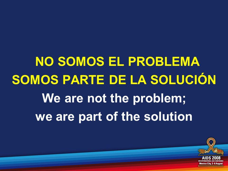 SOMOS PARTE DE LA SOLUCIÓN