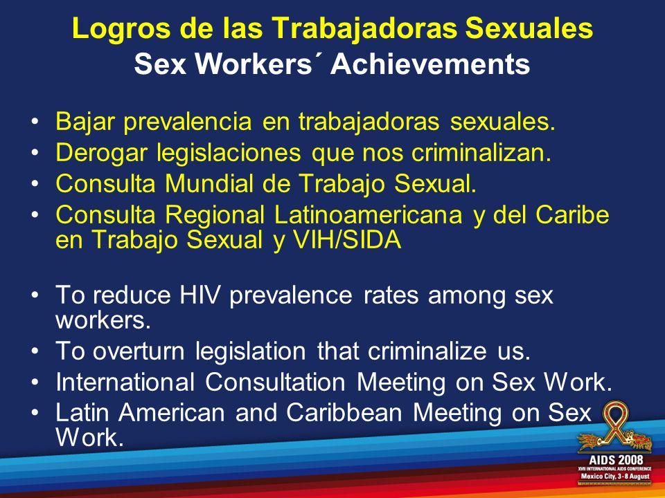 Logros de las Trabajadoras Sexuales Sex Workers´ Achievements