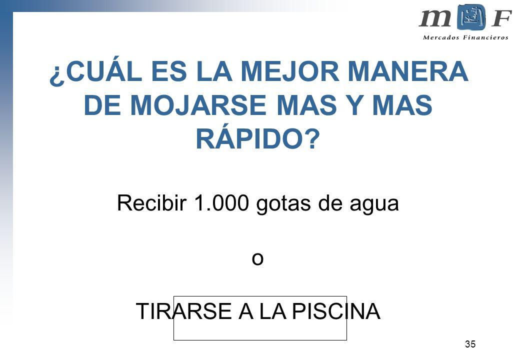 ¿CUÁL ES LA MEJOR MANERA DE MOJARSE MAS Y MAS RÁPIDO