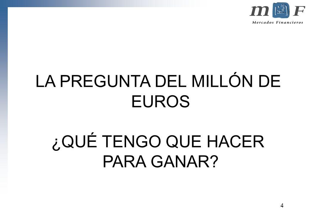 LA PREGUNTA DEL MILLÓN DE