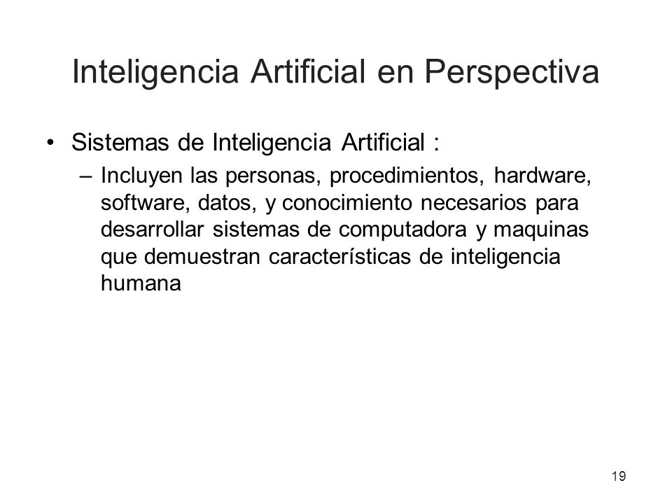 Inteligencia Artificial en Perspectiva