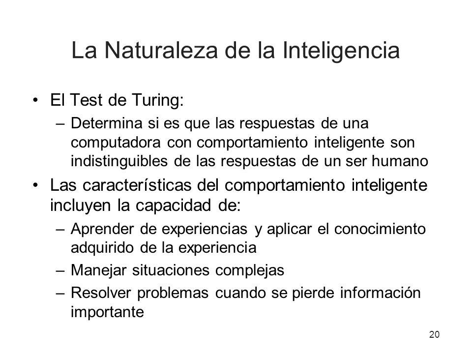 La Naturaleza de la Inteligencia