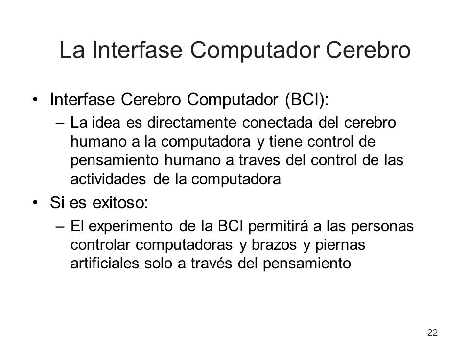 La Interfase Computador Cerebro