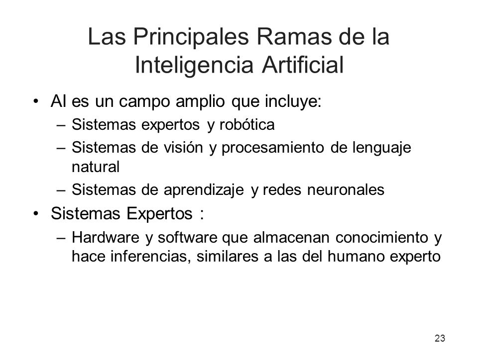 Las Principales Ramas de la Inteligencia Artificial