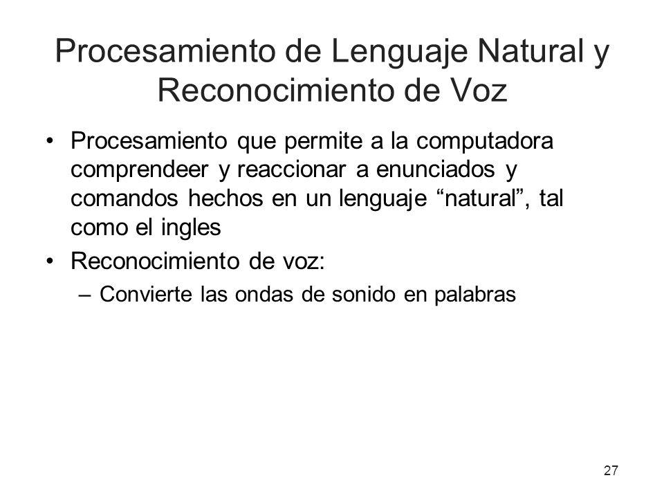 Procesamiento de Lenguaje Natural y Reconocimiento de Voz