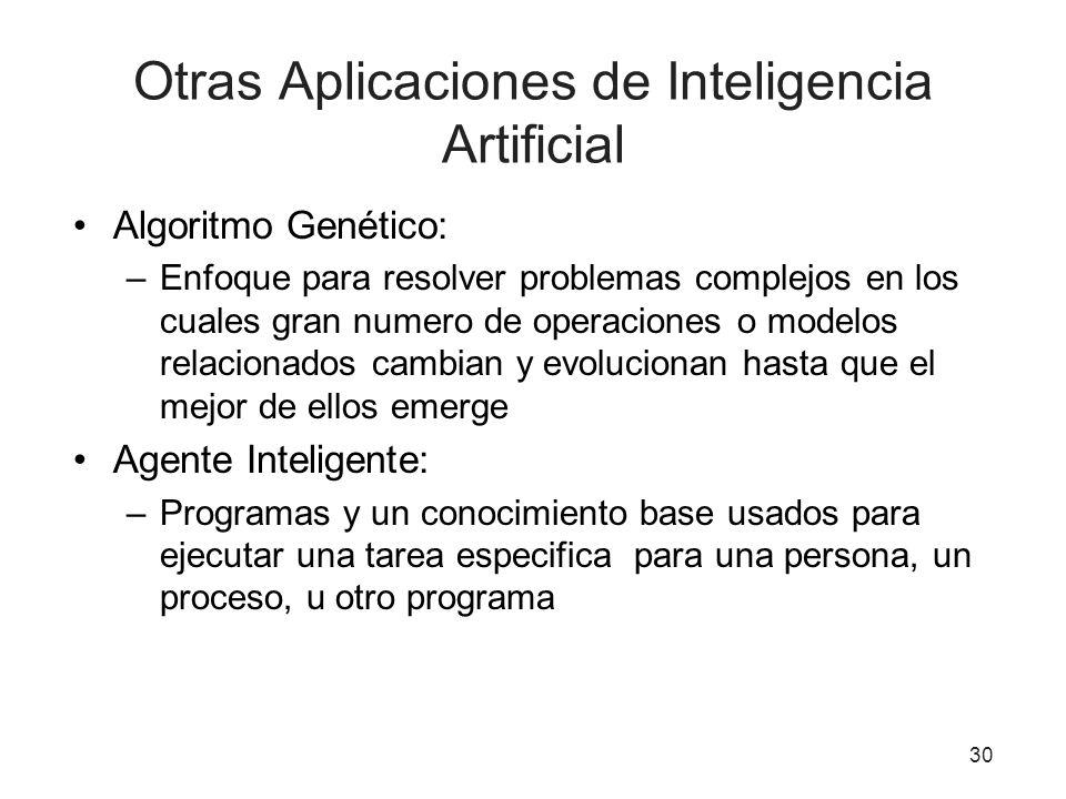 Otras Aplicaciones de Inteligencia Artificial
