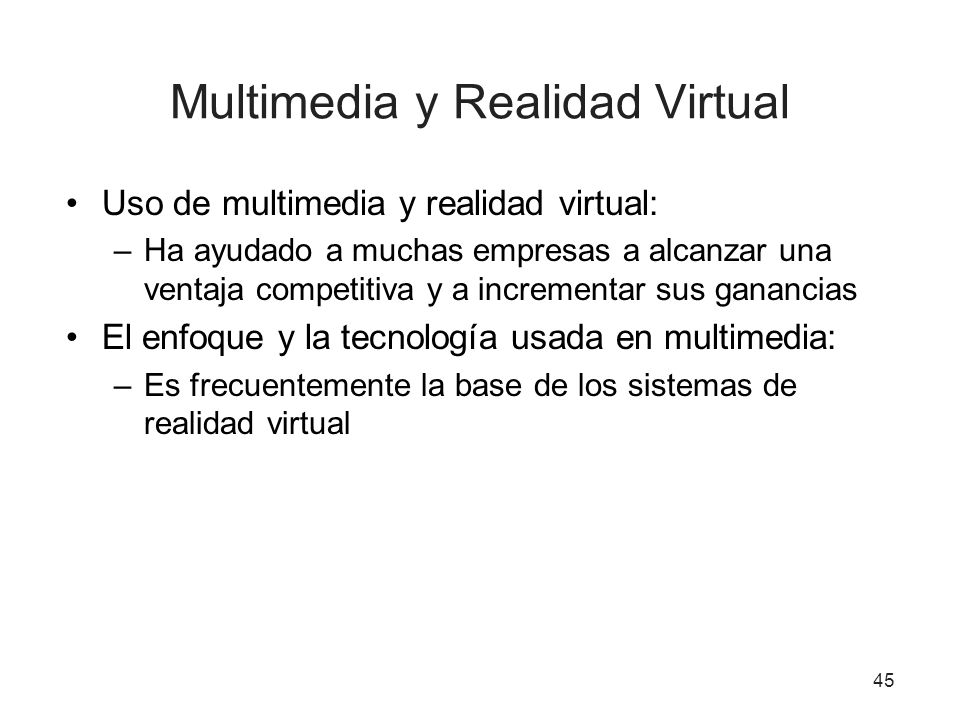 Multimedia y Realidad Virtual