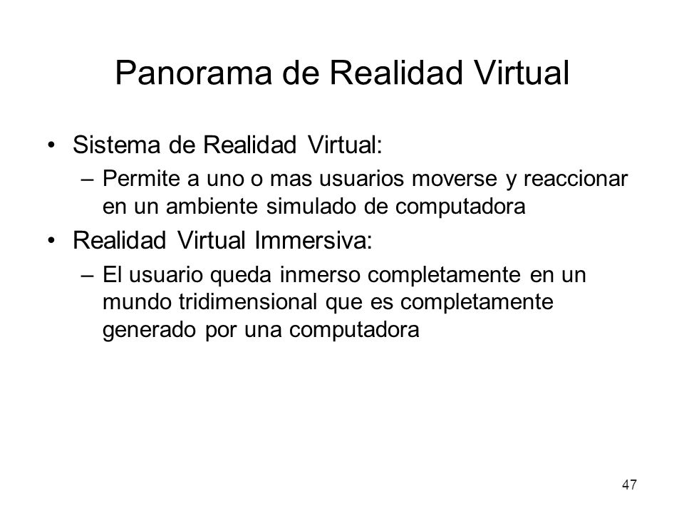 Panorama de Realidad Virtual