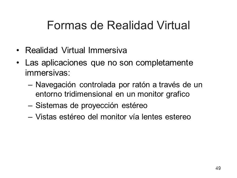 Formas de Realidad Virtual