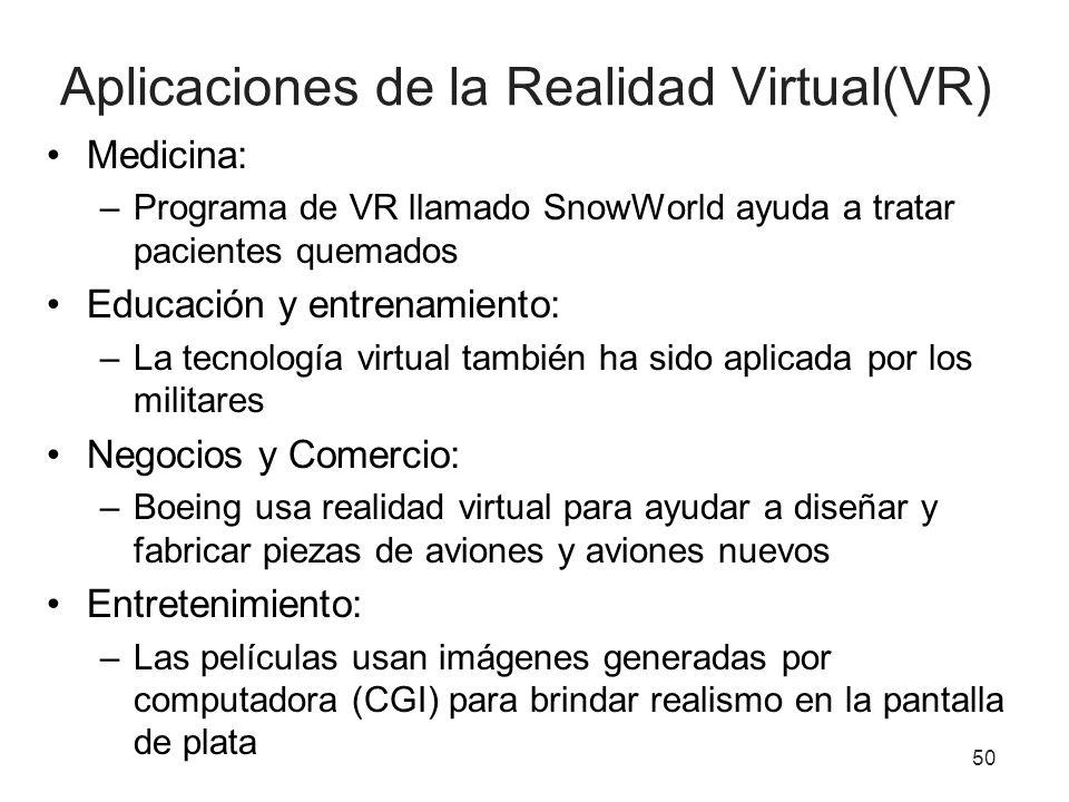 Aplicaciones de la Realidad Virtual(VR)