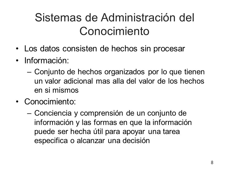 Sistemas de Administración del Conocimiento