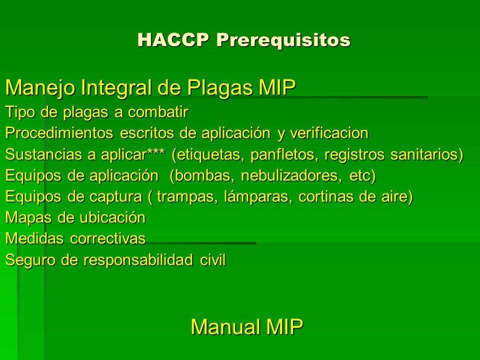 Manejo Integral de Plagas MIP