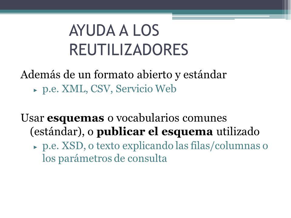 AYUDA A LOS REUTILIZADORES