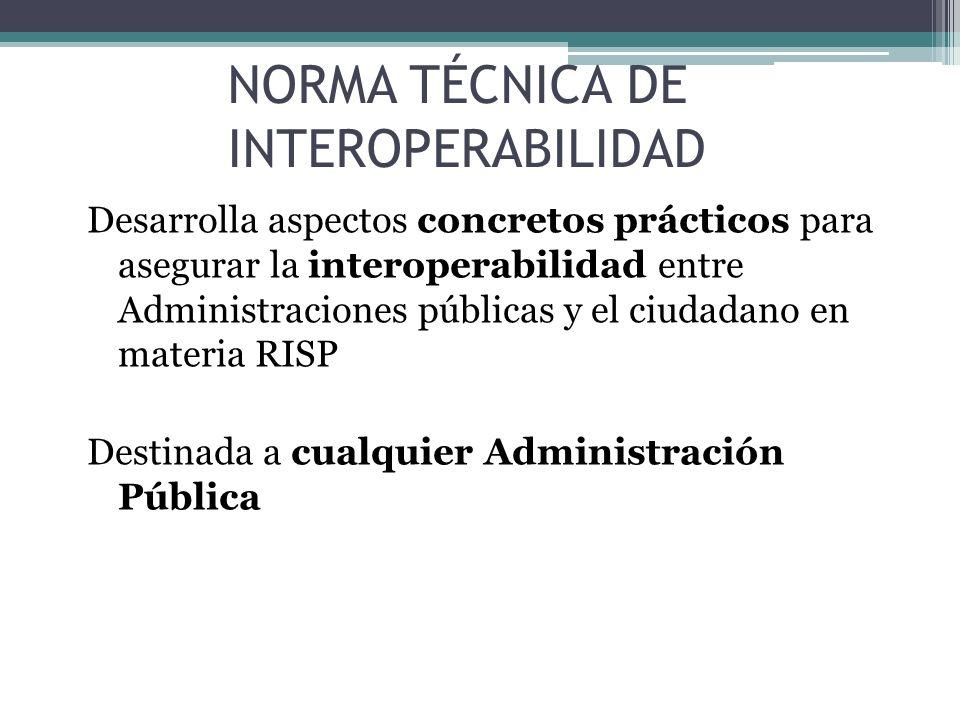 NORMA TÉCNICA DE INTEROPERABILIDAD